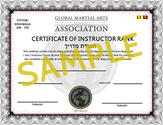 Krav Maga Instructor Certification